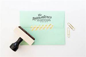 return address stamp wedding invitation stamp rubber stamp With address labels and stamps