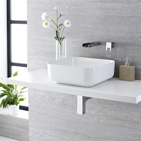 rubinetto per lavabo da appoggio lavabo bagno da appoggio quadrato in ceramica 400x400mm