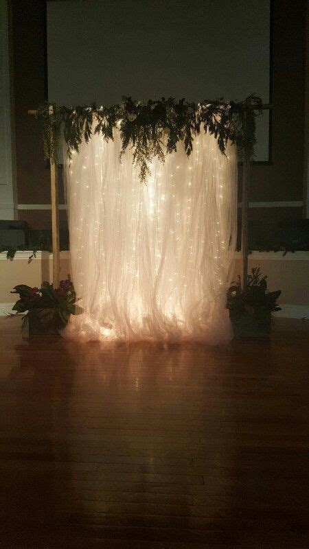Background Winter Backdrop Ideas by Beautiful Wedding Backdrop Tulle Lights
