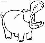 Hippo Coloring Printable Cool2bkids sketch template