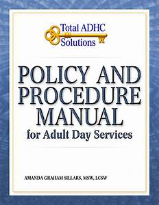 Policy And Procedure Manual For Adult Day Services  U2039 Adhc