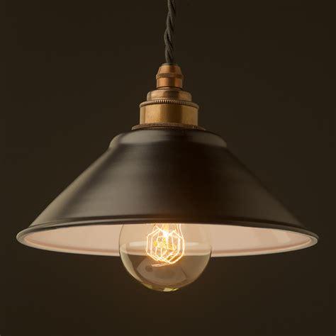 Black Pendant Light by Flat Black Light Shade 190mm Pendant