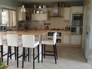 ilot central cuisine ikea en 54 idees differentes et With ikea table de salle a manger pour petite cuisine Équipée