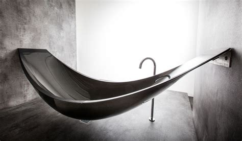 carbon fiber bathtub a hammock shaped carbon fibre bathtub by splinter works