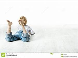 Child Back Lying Down, Looking Forward Royalty Free Stock ...