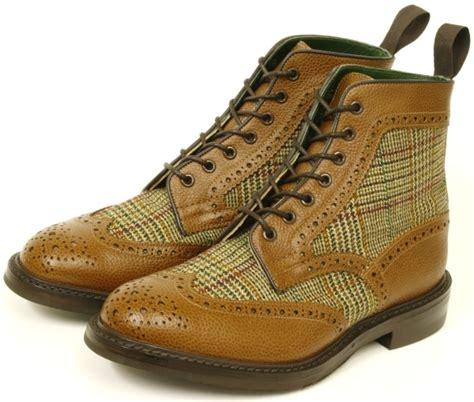 tweed brogue boots mensfash