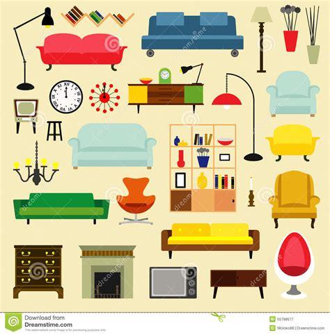 livingroom furnitures furniture ideas for living room stock vector