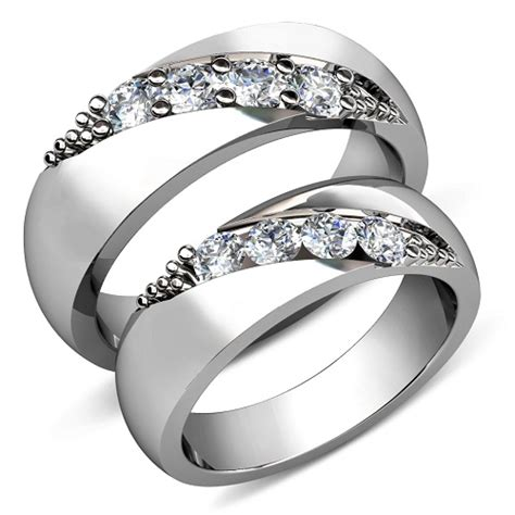 cheap wedding rings sets for
