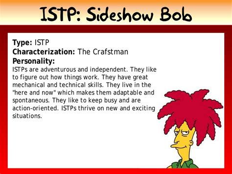 istp sideshow bob type istp