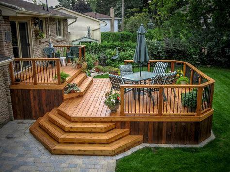 backyard wood deck octagonal deck deck traditional with wood deck steps