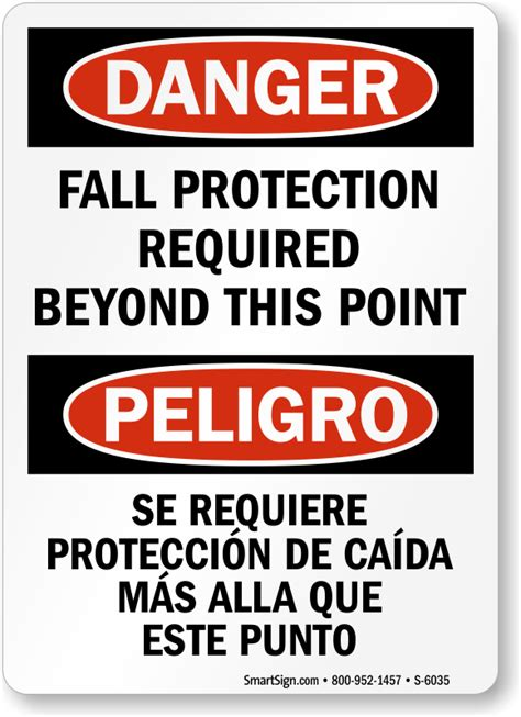 fall protection signs fall protection required signs