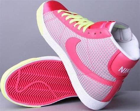 womens nike blazer aster pinkwhite lime green sneakerfiles