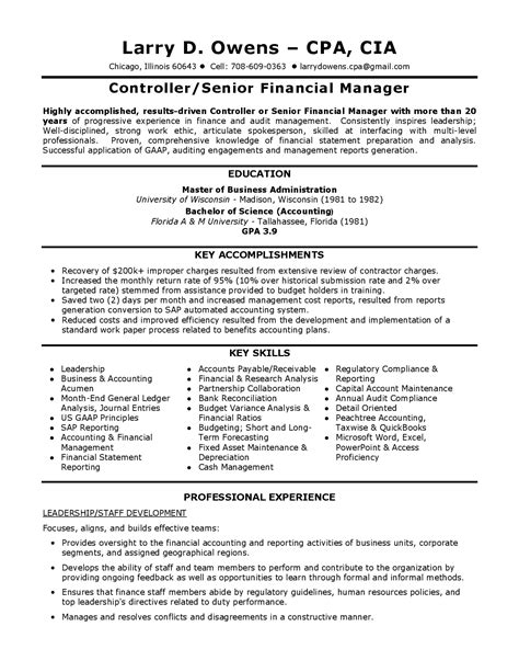 cv financial controller corporate controller resumes bongdaao com