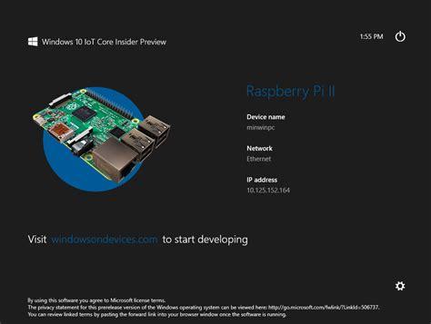 bureau à distance windows windows 10 iot sur raspberry pi pour qui et pour quoi faire