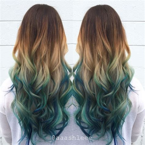 Image Result For Bright Color Ombre For Brown Hair Hair