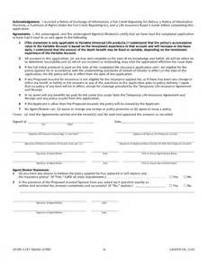 Life Insurance Application Form Template