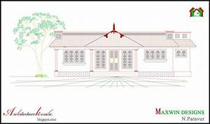 Architecture Kerala: 3 BHK SINGLE FLOOR KERALA HOUSE PLAN ...