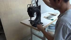 machine a coudre manuelle a manivelle pour atelier du cuir With coudre un canapé en cuir