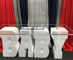 baby letter table for rent With table base letters