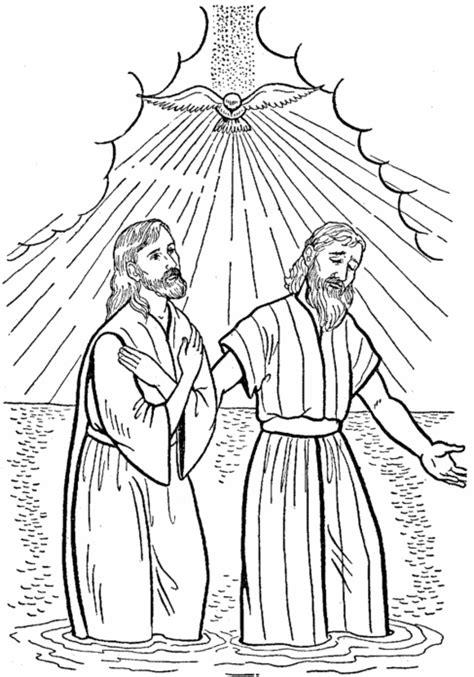 Imagen De Jesus Para Colorear Con Juan El Bautista
