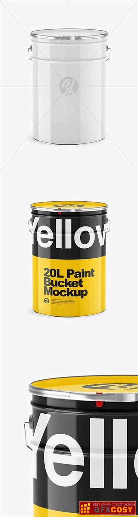 Contains a smart layer for your design. 20L Glossy Paint Bucket Mockup 65166 » Free Download ...