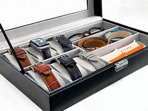 Range Montre Homme : coffret vitrine 6 montres et 3 rangements band band ~ Teatrodelosmanantiales.com Idées de Décoration