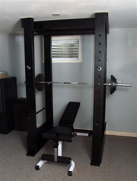 rack power homemade gym diy equipment squat plans build fitness garage cage wood weight wooden workout own bodybuilding squats exercise