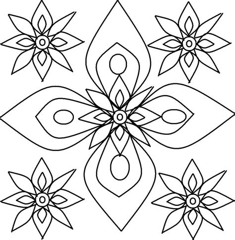 coloring designs free printable rangoli coloring pages for