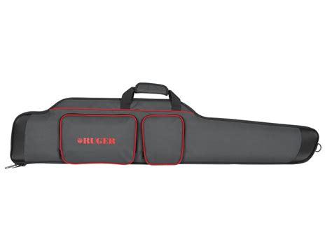 ruger  sporter scoped rifle gun case nylon black red mpn
