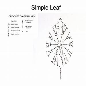 Susan U0026 39 S Hippie Crochet  Free Simple Leaf Crochet Pattern