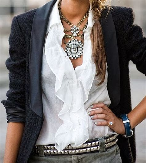 ruffled white blouse beautiful white ruffled blouse fashion trends for all