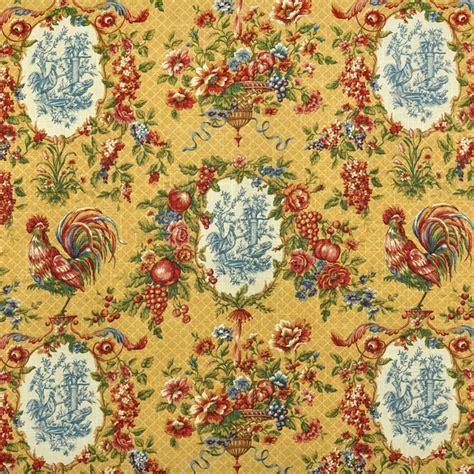 Waverly Saison De Printemps Saffron Fabric.   Toile Fabric