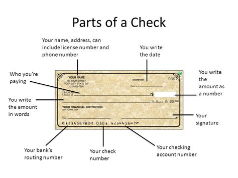 parts of a check routing number consumer math how to write a check ppt