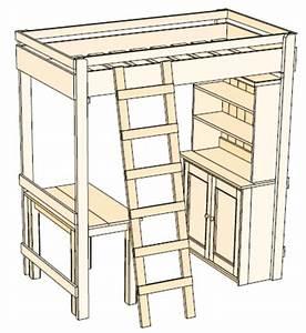 Crafts & Hobbies - Woodwork Plan for PINE BUNK BED, Desk