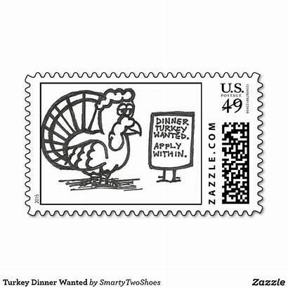 Zazzle Dinner Turkey Stamp