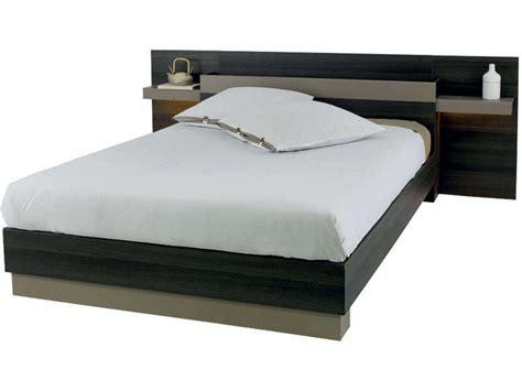 d馗o de chambre adulte lit 140x190 cm graphic coloris chene vulcano vente de lit adulte conforama