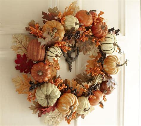 pottery barn wreath pottery barn inspired harvest pumpkin wreath