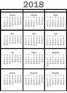 2018 calendar excel template one page monthly yearly With single page calendar template