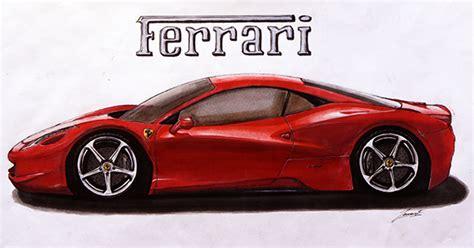 ferrari 458 sketch ferrari 458 sketch on behance