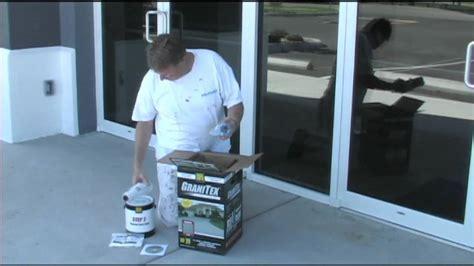 Applying concrete floor coating Granitex from Lowe's   YouTube