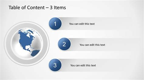 powerpoint table of contents template table of content slides for powerpoint slidemodel