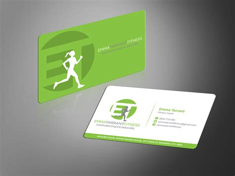 modern business card designs personal trainer