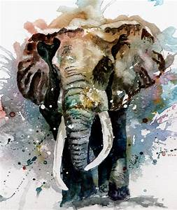 The Elephant Painting by Steven Ponsford