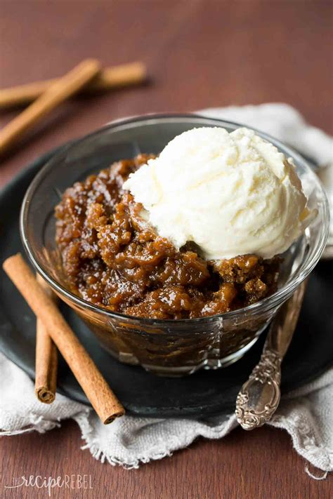desserts in cooker gingerbread pudding cake a slow cooker dessert