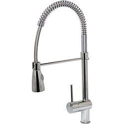 Dyconn 21 inch Contemporary Kitchen Polished Chrome Swivel