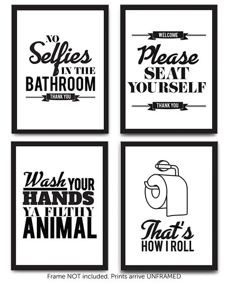 Cheap Bathroom Quotes by Buy Bathroom Sayings Primitive Sign Distressed