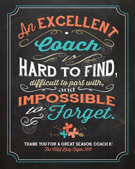 A Great Coach Is Hard To Find Quote Personalized Printable