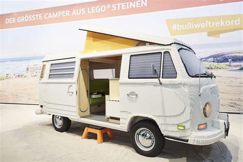 vw bulli lego πραγματικού μεγέθους volkswagen t2 bulli από lego