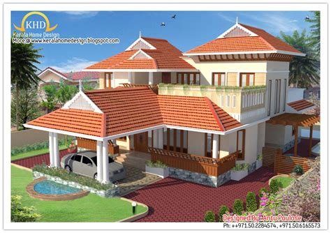 Beautiful Interiors Indian Homes - beautiful sloping roof house elevation 2150 sq ft kerala home design and floor plans
