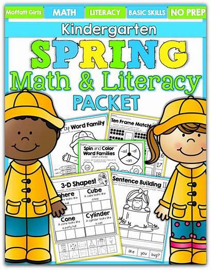 Literacy Kindergarten Math Spring Packet Hands Activities